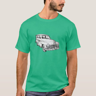 1948 Pontiac Silver Streak Woody Illustration T-Shirt
