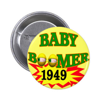 1949 Baby Boomer Pinback Buttons