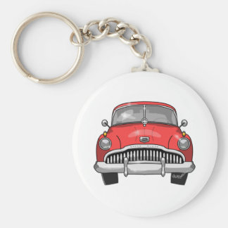 1949 Buick Roadmaster Basic Round Button Key Ring