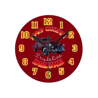 1949 Chevy Styleline Deluxe Clock. Round Clock