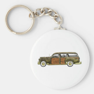1949 Chrysler Town & Country Station Wagon Basic Round Button Key Ring