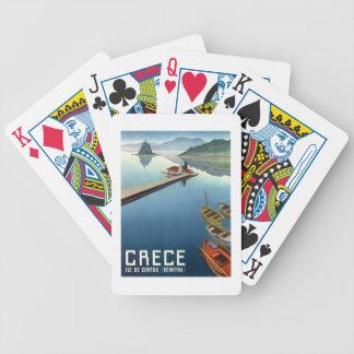 1949 Corfu Greece Travel Poster Bicycle Playing Cards