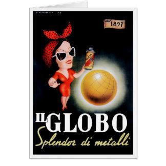 1949 Il Globo Italian Advertising Poster Card