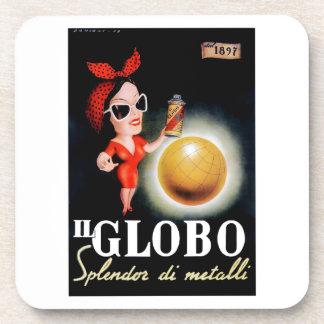 1949 Il Globo Italian Advertising Poster Coaster