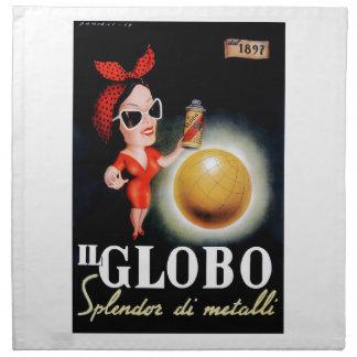 1949 Il Globo Italian Advertising Poster Napkin