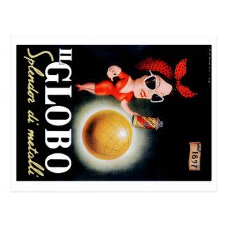 1949 Il Globo Italian Advertising Poster Postcard
