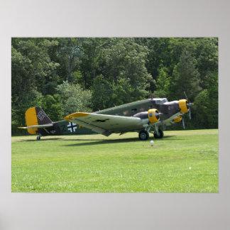 1949 Junkers Ju-52. Poster