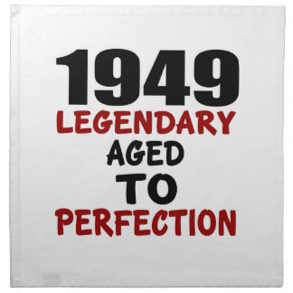 1949 LEGENDARY AGED TO PERFECTION CLOTH NAPKINS