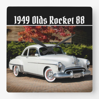 1949 Olds Rocket 88 | Oldsmobile Classic Car Square Wall Clock