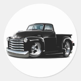 1950-52 Chevy Black Truck Classic Round Sticker