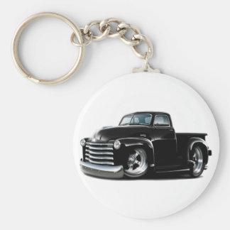 1950-52 Chevy Black Truck Basic Round Button Key Ring
