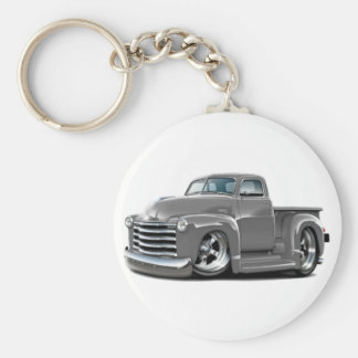 1950-52 Chevy Grey Truck Basic Round Button Key Ring