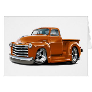 1950-52 Chevy Orange Truck Card