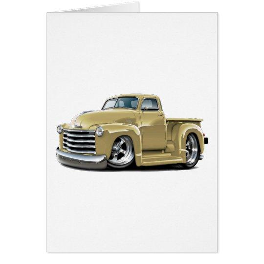 1950-52 Chevy Tan Truck Card