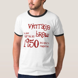 1950 Birthday Year 65th Vintage Brew Ringer T-Shirt
