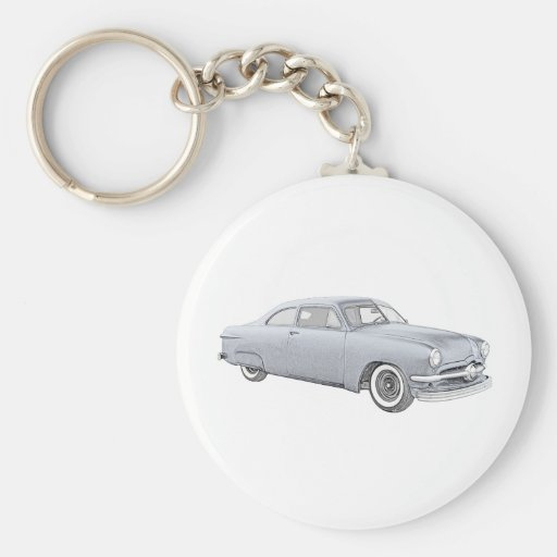 1950 Blue Ford Coupe Keychains
