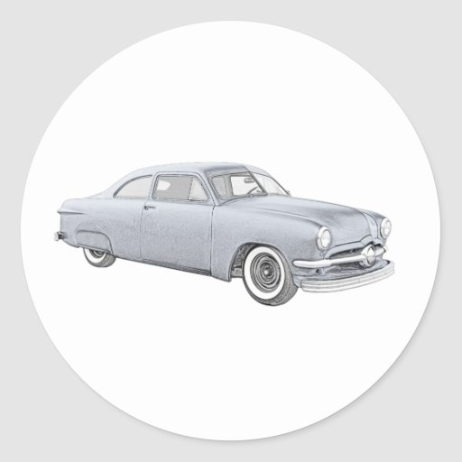 1950 Blue Ford Coupe Sticker