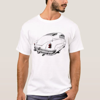 1950 Buick Lead Sled in White with colored accents T-Shirt