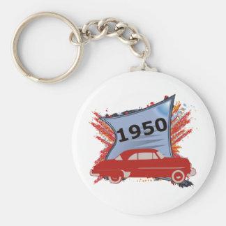 1950 Chevy Basic Round Button Key Ring