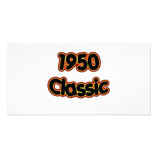 1950 Classic Customized Photo Card