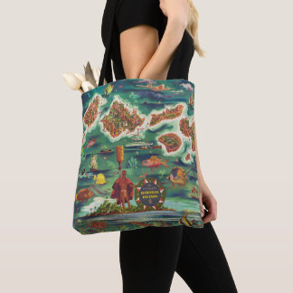 1950 Dole Map of Hawaii Joseph Feher Oil Paint Tote Bag