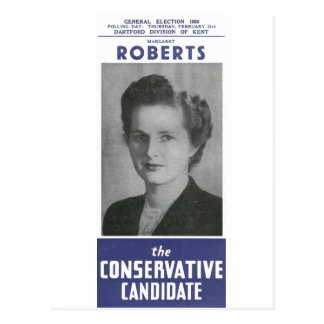 1950 Mrs Thatcher Election Poster Postcard