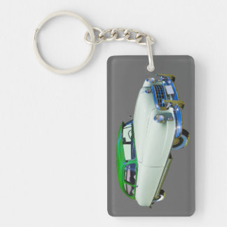 1950 Nash Ambassador Antique Car Double-Sided Rectangular Acrylic Key Ring