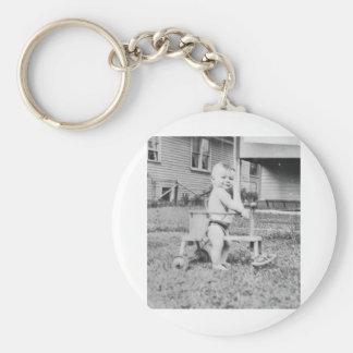 1950 s Child in Walker Keychains