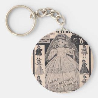 1950 s Doll Hollywood Bride Keychain