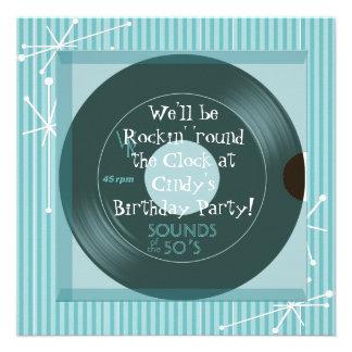 1950 s Theme Birthday Party Custom Announcement