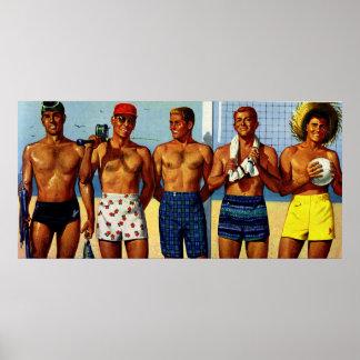 1950s Beach Dudes Print