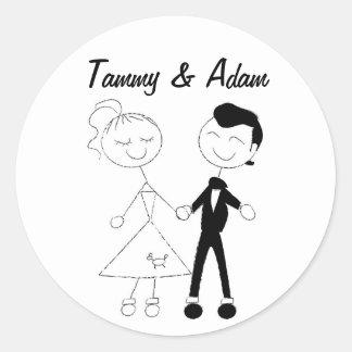 1950's Couple Stickers