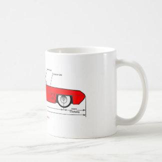 1950s Dream Car shows car design terms Coffee Mug