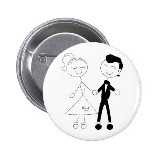 1950s Dressed Up Couple 6 Cm Round Badge