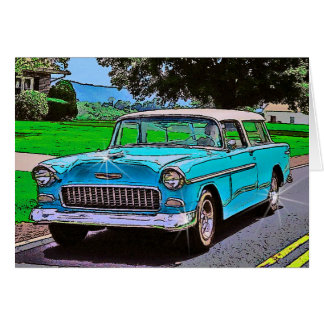 1950's Era Chevy Bel-Air Nomad Card