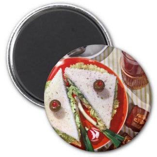1950's eyeball sandwich 6 cm round magnet