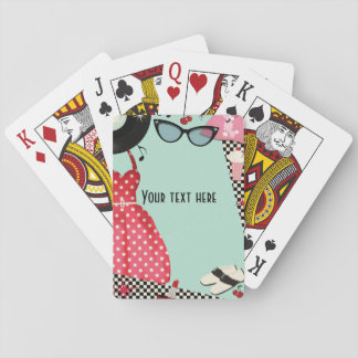 1950's Fifties Dress Up Retro Vintage 50's Custom Playing Cards