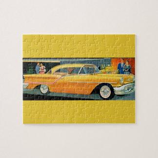 1950s golden Rocket 88 Oldsmobile Jigsaw Puzzle