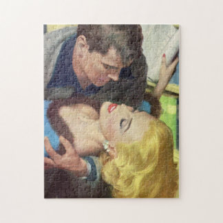 1950s hot office romance jigsaw puzzle