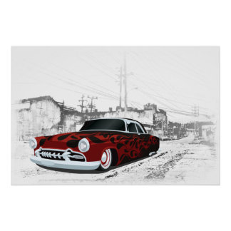 1950's Hot Rod Poster