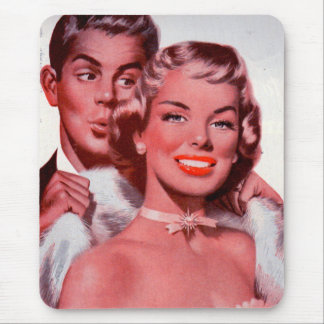 1950s hottest prom date mouse pad