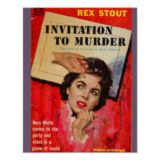1950s Invitation to Murder cover print