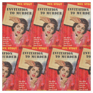 1950s Invitation to Murder cover print Fabric