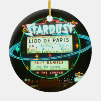 1950's Las Vegas Stardust Casino Neon Sign Ceramic Ornament