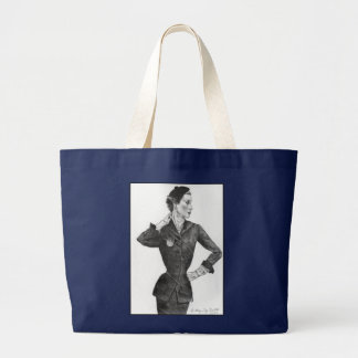 1950's Lovely Lady Large Tote Bag