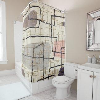 1950s Mod Print Shower Curtain