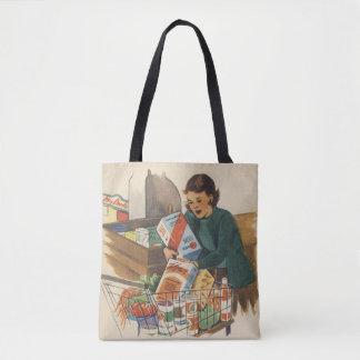 1950's Mom Shopping Tote Bag