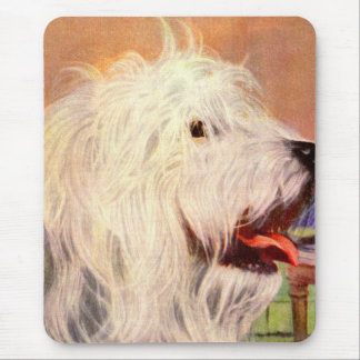 1950s old English sheepdog Mouse Pad