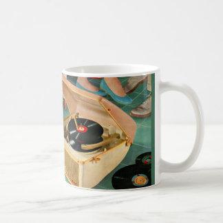 1950s portable record player ad coffee mug