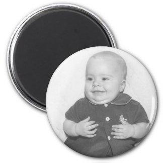 1950's Portrait of Baby Boy 6 Cm Round Magnet